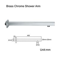 bath arms - Wall Mounted Square Shape Brass Shower Head Arm Chrome Surface Shower Arms CM Arm Bath Accessories