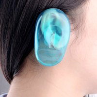 Wholesale Barber Shop Clear Silicone Ear Cover Hair Dye Shield Protect Salon Color Blue Protect Ears New Styling Accessories