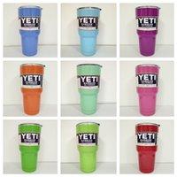Wholesale Powder Coated oz Yeti Rambler YETI Coolers Rambler Tumbler Stainless Steel Double Walled Travel Mug YETI cup