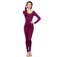 best thermal pants - Women Winter Thermal Underwear Soft Warm Set Long Johns Tops Pants Suit Best