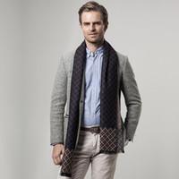 Wholesale Fashion Design Men Business Classic Plaid Scarf Soft Warm Printed Winter Wrap cm Long Check Pattern Neckscarf Multicolored Cashmere Shawl