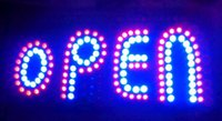 Wholesale 2016 direct selling customed graphics low power inch indoor Ultra Bright flashing store open sign of led