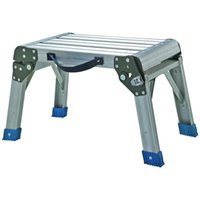 aluminum step platform - Working Platform Step Stool Folding Aluminum lb