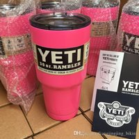 Wholesale 30 oz Pink YETI Tumbler Rambler Cups Yeti Coolers Cup Yeti Insulation Sports Mugs Large Capacity Stainless Steel With Yeti Logo PPA191