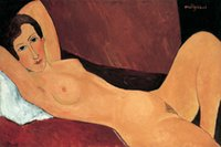 amedeo modigliani paintings - nude canvas prints giant poster home decoration pictures figurative canvas painting reclined nude by Amedeo Modigliani
