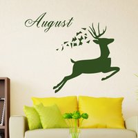 Wholesale Deer Silhouettes Vinyl Wall Stickers Sticker Mural Sticker Creative Home Decor