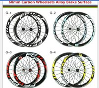 alloy racing rims - Alloy brake surface FFWD F6R c mm rim glossy white red k carbon road wheels racing clincher wheelset also sell disc carbon wheels