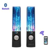 Precio de Fuente de la música llevado-Altavoz Bluetooth estéreo creativo Suanti Agua Bailar, fuente de la música del altavoz TF tarjeta de apoyo LED Light Show HIFI altavoz del agua