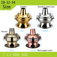 Wholesale Old Chinese Style cm cm cm gold Stainless Steel Charcoal Hotpot