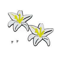 beach earings - Women Hawaii Beach Stud Earings White Daffodils Shaped Earrings