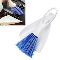 Wholesale Panel Dashborad Cleaning Tools Kits Scoop Dust Brush Car Cleaning Brush Dustpan Air Outlet Vent