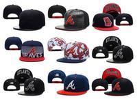 atlanta cap black - Fashion Atlanta Braves Baseball Cap Adjustable Popular Women Men Sports Snapbacks Hat Cap