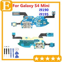 Wholesale Test Passed Original Charging Charger Connector USB Port Dock Microphone Flex Cable for Samsung Galaxy S4 Mini GT I9195 LTE I9190 I9192 OEM