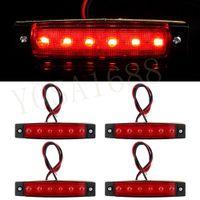 Wholesale 10xRed LED Truck Bus Boat Trailer Side Marker Tail Indicators Lights Lamp V V New