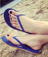 Wholesale Women Fashion Summer Beach Braided Flip Flop Thong Sandals