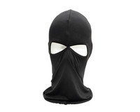 Wholesale 2 Holes Balaclava Face Mask Ski Sports Face Mask Scarf Men Tactical Full Face Mask Airsoft Hunting Mask Hunting Accessories