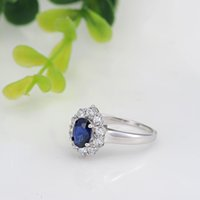 Wholesale Star Harvest Hot selling Sapphire Color CZ ring Rectangle Cut Princess Ring Star Harvest High quaility with cheap price
