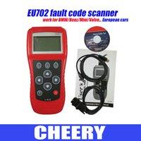 Wholesale DHL EU702 OBD2 CODE SCANNER OBDII Code READER EU702 Scanner EU fault code scan too diagnositc tool for BMW Europen cars