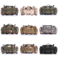 Wholesale 9 Color L Utility Sport P Military Tactical Duffle Waist Pack Poach Bags Tactical Canvas Molle Assault Backpack Free DHL E598L