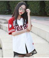 baseball style t shirt - Hip Hop Sports Fashion Baseball T shirt mlb Korean style Mens Womens Tide mujeres camiseta Harajuku Punk jerseys t shirts top tees