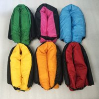Wholesale Outdoor Inflatable Couch Camping Furniture Sleeping Compression Air Bag Lounger Hangout Nylon External Internal PVC for Summer Camping
