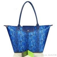 Wholesale Limited Edition Women Handbags Brand design Serpentine waterproof nylon Long handle big capacity beach Champagne Women bags