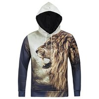 Wholesale New Winter Autumn Hooded Jacket King of Lions Hoodies Printed D Men Hoodies Long Sleeve Sweaters Pullovers T Shirt M XXXL