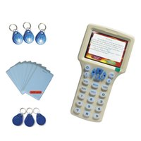 Wholesale 10 Frequency Supper RFID NFC Copier ID IC KHz HID Reader Writer Copy UID Sector0 Encrypted T5577 UID Keyfobs
