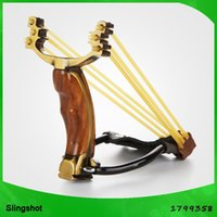 Wholesale Outdoor hunting slingshot catapult metal bow for fishing HT11