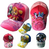 Wholesale Children Peaked cap fashion boys girls sun hat kids Anime Cartoon baseball baby girls boys mesh cap sport hats