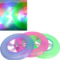 Wholesale New Colorful LED Light Spin Flywheel Outdoor Flying Saucer Disc Frisbee Kid Child Cute Toy