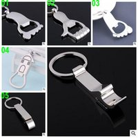 Wholesale 50 BBA4144 color Mini Beer Bottle OPENER KeyChain Key Chain Charms beer Opener Coca Can Opening tool Key Ring Wine bar Corkscrew Tool gift
