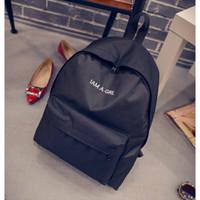 Wholesale I Am A Girl New School Backpack Mochila Escolar Women s Backpack Ladies Mochilas For Teenage Girls Feminina Masculina Child