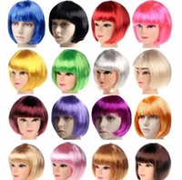 Wholesale Women Fashion Halloween Bob Cosplay Wig Ladys Short Hair Wigs Chemical Fibre Sexy Party Christmas Gift