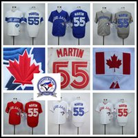 Wholesale Cheap Russell Martin Jersey Cheap Toronto Blue Jays Baseball Jersey High Quality Stitched Blue Gray Red White th Anniversary Patch