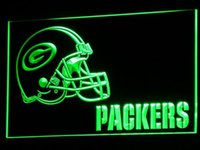 bar light signs - b320 Packers Helmet Football Decor Bar LED Neon Light Sign colors sent in hrs