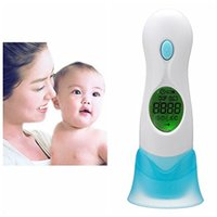 Wholesale 4 In Multi function Digital Thermometer LCD Adult Baby Forehead Ear IR Infrared Thermometre Temperature Display