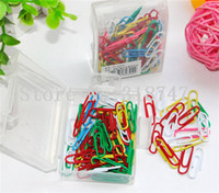 Wholesale 28mm Mixed Colors paper clips Scrapbooking accessories box