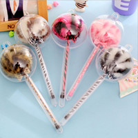 Wholesale 5 Colors New Leopard Print series Plush Ball design gel pen stationery office school supplies papelaria