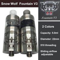 achat en gros de doge x v2-Loup de neige FOUNTAIN V3 RTA Atomiseur Inoxydable vs Lethal Doge v2 Mutation x v3 Gauntlet RDA RBA Tank