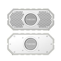 acoustic audio subwoofer - THECOO K Stereo Bluetooth Speaker Dual Acoustic Driver Waterproof Loudspeaker Subwoofer Hands free for Outdoor Shower V2329