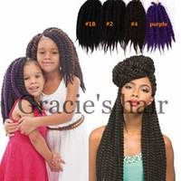 Wholesale 12inches inches synthetic braiding hair havana twist crochet hair havana braids mambo twist crochet braids hair extension