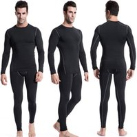 athletic jackets for men - Running T Shirt Athletic Suits For Men Training Suit Bodybuilding Fitness Quick Dry Tights Mens Running Jacket Clothes