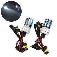 Wholesale 2Pcs Set w K DRL Daytime Running Light Car Headlight Head Lamp HID Xenon Light Car Styling H1 Bulb Replacement Bulb