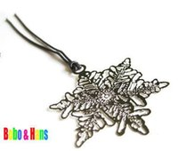 Wholesale New Creative snowflake designs Metal Bookmark Book marks