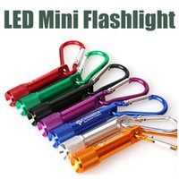 Cheap Best Portable Mini LED Flashlight Keychain Aluminum Alloy Torch with Carabiner Ring Keyrings LED mini Flashlight Mini-light free shipping