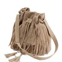 Wholesale bolso mujer marca Hot Celebrity PU Suede Fringe Shoulder Tassel Messenger Bags Handbags Women Famous Brands CrossBody Bag