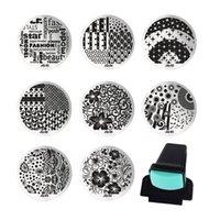 Wholesale Nail Art Templates Set Steel Nail Plates Stamper Scraper Diy Polish Image Stamp Stamping Plates Nail Tools