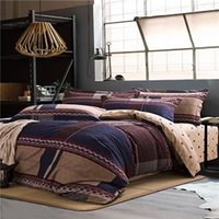 Wholesale 100 Cotton thicken jet sanding bedding set duvet cover sheet and two pillowcase