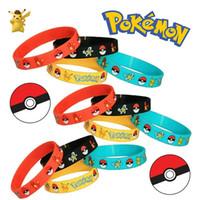 babies bracelets - Poke mon Bracelet Magic Baby Cartoon Anime Peripheral Elves Silicone Bracelets Kids Wristband Pikachu Bracelets Wristband Silicone